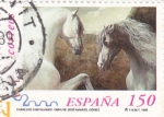 Stamps Spain -  caballos cartujanos 3683