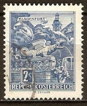 Sellos de Europa - Austria -  Fuente del Dragón en Klagenfurt (a).