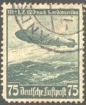Stamps : Europe : Germany :  Primer viaje del Zeppelin hacia América del Norte