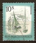 Sellos del Mundo : Europa : Austria : Lago Neusiedl en Burgenland.