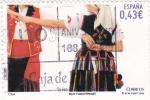 Sellos de Europa - España -  bailes y danzas populares- la isa