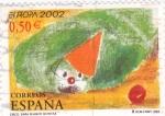 Sellos de Europa - España -  circo-dibujo infantil