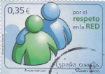 Stamps Europe - Spain -  valores cívicos-por el respeto en la red