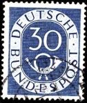 Stamps Germany -  Corno en sello grabado