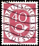 Stamps Germany -  Corno en sello grabado