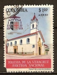 Sellos del Mundo : America : Colombia : Panteón Nacional, Iglesia de Veracruz.