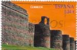 Sellos de Europa - España -  murallas de lugo-patrimonio nacional