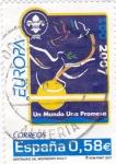 Sellos de Europa - España -  centenario del movimiento scout- un mundo una promesa