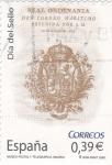 Stamps Spain -  día del sello real ordenanza del correo marítimo