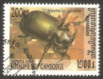 Stamps Cambodia -  1707 - coleóptero calosoma sycophanta