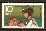 Sellos de Europa - Alemania -  25 años de la Policía Popular Alemana-DDR.