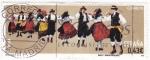 Sellos de Europa - España -  bailes y danzas populares-la rueda