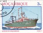 Stamps Mozambique -  barcos de Mozambique- vega 7