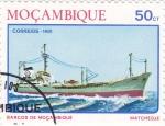 Stamps Mozambique -  barcos de Mozambique- matchedje