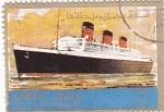 Sellos de Asia - Emiratos Árabes Unidos -  buques- queen mary