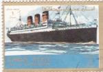 Sellos de Asia - Emiratos Árabes Unidos -  buques-
