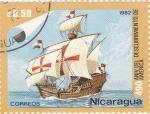 Stamps America - Nicaragua -  490 aniversario del descubrimiento de america