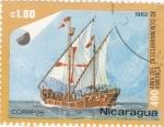 Stamps Nicaragua -  490 aniversario del descubrimiento de america
