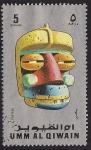 Stamps United Arab Emirates -  Umm al Quiwain - máscaras