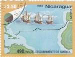 Stamps : America : Nicaragua :  490 aniversario del descubrimiento de america