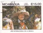Stamps Nicaragua -  año internacional de la música