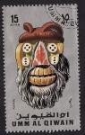 Stamps Asia - United Arab Emirates -  Umm al Quiwain - máscaras