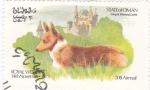 Stamps Oman -  Royal Wedding- perro y castillo de Balmoral