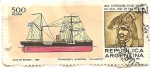 Sellos de America - Argentina -  Barco