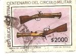 Sellos de America - Argentina -  Pistolon
