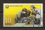 Stamps Germany -  DDR / Establecimientos para Formaciones / Telecomunicaciones.