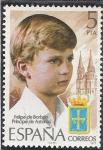 Sellos del Mundo : Europa : España :  Homenaje Felipe de borbon principe de asturias