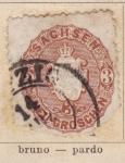 Sellos de Europa - Alemania -  Reino Sajonia Ed 1863
