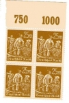 Stamps Germany -  Agricultores - Bloque de 4