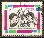 Sellos de Europa - Alemania -  Reunión de la juventud alemana, Berlín,1964-DDR.