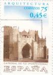 Sellos de Europa - España -  arquitectura-catedral de tui-pontevedra-