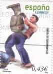 Sellos de Europa - España -  levantamiento de piedra