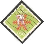 Stamps : America : Ecuador :  770 - Olimpiadas de invierno en Grenoble, hockey hielo