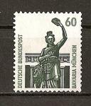 Stamps Germany -  RFA / Curiosidades / Estatua de Bavaria.