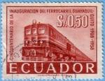 Stamps : America : Ecuador :  Cincuentenario de la inauguración del ferrocarril