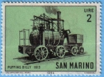 Stamps : Europe : San_Marino :  Puffing Billy 1813
