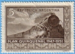 Stamps Argentina -  Plan Quinquenal 1947-1951