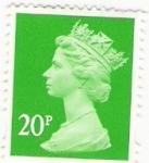 Stamps : Europe : United_Kingdom :  Reino unido 20p verde