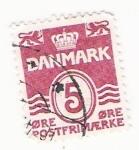 Stamps : Europe : Denmark :  5 danmark