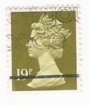 Stamps : Europe : United_Kingdom :  Queen Elizabeth stamp 19p