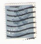 Stamps : Europe : United_Kingdom :  Queen Elizabeth stamp 4 1/2 p