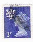 Stamps : Europe : United_Kingdom :  Queen Elizabeth stamp 3p