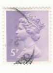 Stamps : Europe : United_Kingdom :  Queen Elizabeth stamp 5p
