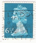 Stamps United Kingdom -  Queen Elizabeth stamp 6 1/2 p