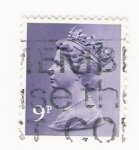 Sellos del Mundo : Europa : Reino_Unido : Queen Elizabeth stamp 9 p