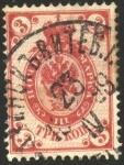 Stamps Russia -  Águila imperial bicéfala 1889-1904 3 kopeks